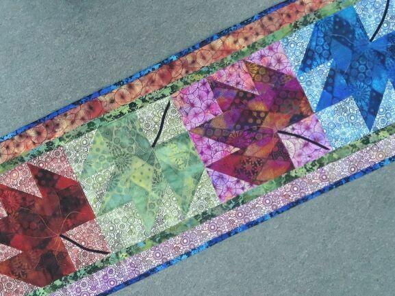 SBAQGACS4.8 Four Seasons Table runner pattern & fabric kit $99