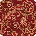 16948 Holiday Flourish Scrolls Red $32 per mt
