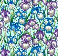15487 Kaffe Collective Bearded Iris Cool $30 per mt