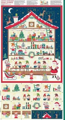 16953 Santa's workshop Advent calendarpanel $18.50.jpg
