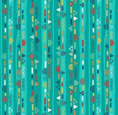 16950 Folk Friends Stripe Turquoise $32 per mt.jpg
