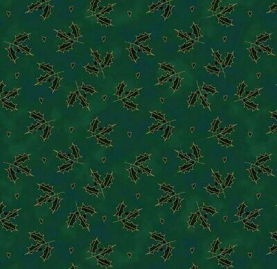 10512 Magic Christmas Holly Green $30 per mt