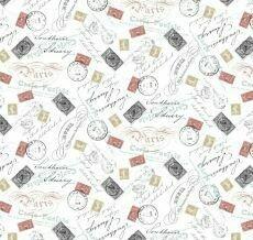 15481 Merci Paris Postmark White $30 per mt