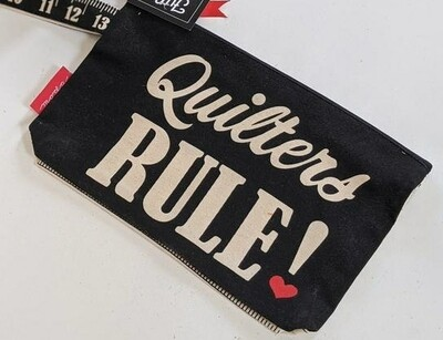 Quilters rule zipper pouch