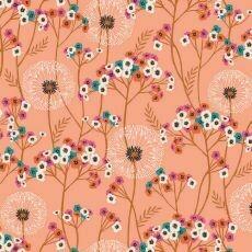16962 Aviary Floral Peach $30 per mt