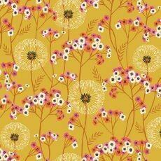 16963 Aviary Floral Mustard $30 per mt