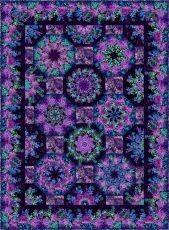 41099 One Fabric Kaleidoscope Quilt Pattern $12