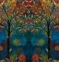 15509 Light in the forest Forest panel $42