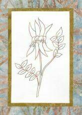 44732 Floral Emblem Stitchery Sturt Desert Pea $20