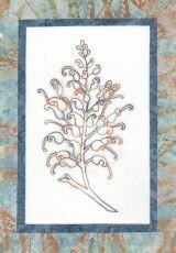 44736 Floral Emblem Stitchery Grevillea $20