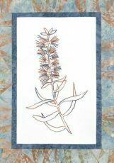 44735 Floral Emblem Stitchery Bottlebrush $20