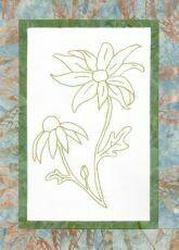 44741 Floral Emblem Stitchery Flannel Flower $20