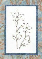 44740 Floral Emblem stitchery Royal Bluebell $20