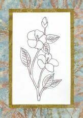 44742 Floral Emblem Stitchery Desert Rose $20