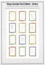 95430 Vintage Floral Emblem Stitcheries Complete Set $212