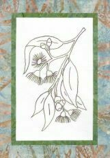 44738 Floral Emblem Stitchery Tasmanian Bluegum $20