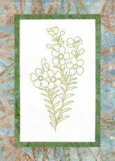 44739 Floral Emblem Stitchery Geraldton Wax $20