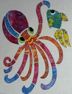 40140 Ola the Octopus applique Pattern $15