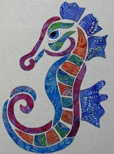 40141 Seanna the Seahorse Applique Pattern $15