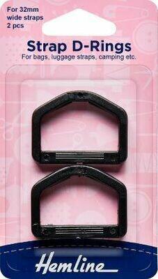 32599 Strap D Rings 32 mm $3