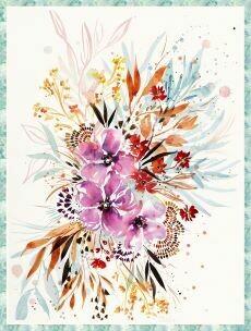 13339 Sunshine Soul Flowers of Eventide Panel $85.99each