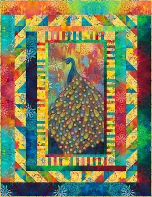 95443 Extravagant Plumage Quilt fabric kit $203.60