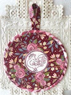 45825 Rooster Trivet pattern $10