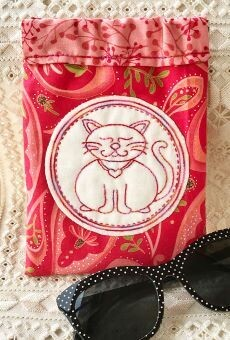 45827 Cat Glasses Case pattern $10