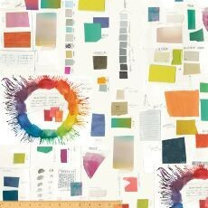 15554 Color Theory Swatches White $36 per mt