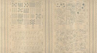 13353 Broderie Embroidery Sampler Panel $22 each