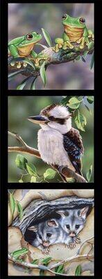 16952 Wildlife Art Panel DV3174 $12each