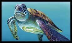16976 Chris Riley Art Panel Sea Turtle DV3916 $20 each