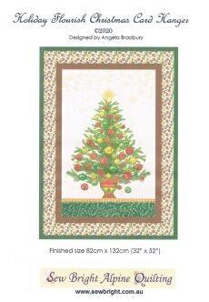 95419 Holiday Flourish Christmas Card Hanger Pattern & Fabric Kit $75.80