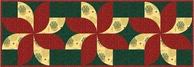 QCR Fun Poinsettia Table Runner Pattern & Fabric Kit $74.20