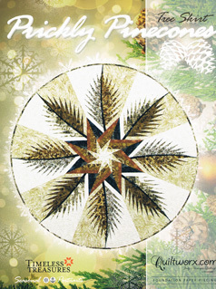 43750 Prickly Pinecones Tree Skirt Pattern & Papers $ 57.95