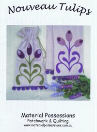 40037 Nouveau Tulips Scarf Pattern $15