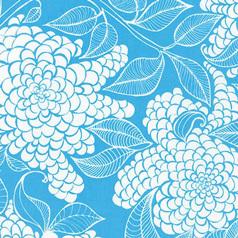 16419 Mystic Azure Big Floral $29.98 per mt