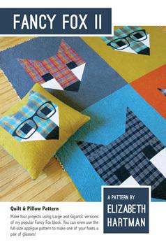 45555 Fancy Fox II Quilt & Pillow Pattern $27
