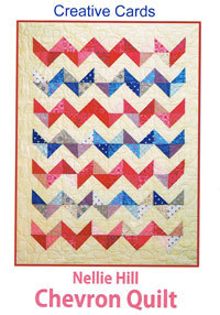 46204 Nellie Hill Chevron Quilt Creative Card $5