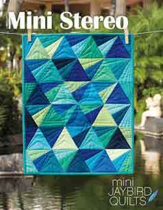 43556 Mini Stereo Quilt Pattern $13.95