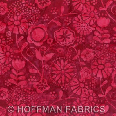 10300 Bali Handpaints L2576 Floral Garden Red Velvet $21 per mt.jpg