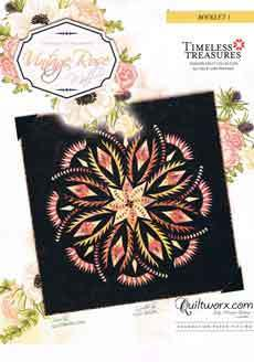 43760 Vintage Rose Quilt Pattern & Paper Wall Size $120