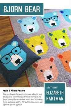 45568 Bjorn Bear quilt Pattern $27