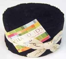 13287 Bella Solids Jelly Roll Black $55