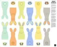 15328 Bunny Bowling Panel $27.75 each