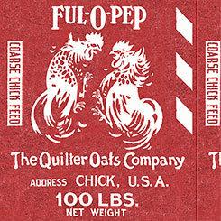15346 Fowl Play Feed Sak Panel Red $16.95 each