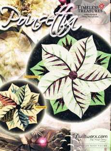 43763 Poinsettia Table Topper Pattern & Papers $39.95