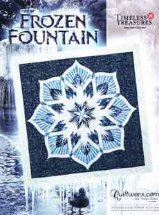 43767 Frozen fountain quilt pattern & papers $61.50