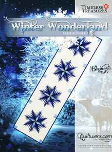 43708 Winter Wonderland Table Runner pattern & papers $37.50