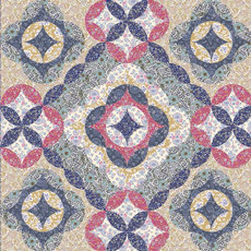 95379 Moroccan Flowers Quilt Pattern & Fabric Kit